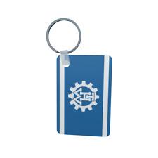Schlüsselanhänger Flagge Fahne THW Alu 40 x 57 mm