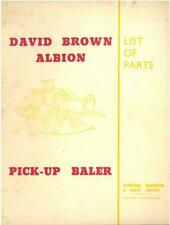 David Brown Albion recoger Empacadora Manual del operador
