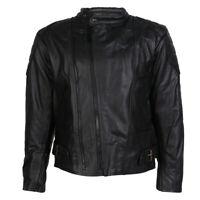 Size 5XL Mens Texpeed Black Cowhide Leather Touring Motorcycle Motorbike Jacket
