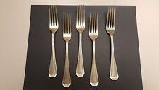 5 Vintage National Nickel Silver Dinner Forks - Unknown Maker