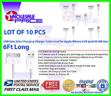 10X 6FT USB Charger Cable Cord Copatible to charge iPhone 4 4S ipod 4G 4th
