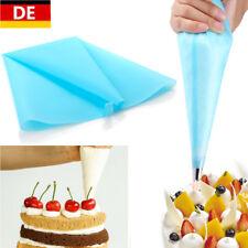 Silikon Dressiersack Spritzbeutel Sahnespritze Spritzsack Piping Tasch Bag Blau