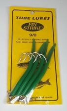 """Chartreuse Fin Strike 4/"""" Bucktail Teasers 9 per pack"""