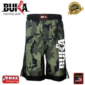 BUKA New MMA Boxing Shorts Gym Muay Thai UFC Cage Fight BJJ Grappling Camo Pants