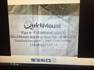 AFT STSS0808M5108132 QuickMount MD 18-Pc Strip Door Kit for 9'W x 11'H, PVC* NOS