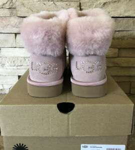 New UGG Women's Size 9 Classic Bling Mini BOOT Pink PCRY