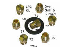 LPG Conversion Kit For Gas Cooker Inc Ovens, Grill and 4 Burners
