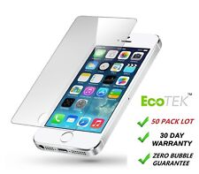 50x Pack Wholesale Lot Tempered Glass Screen Protector for Apple iPhone 5/5C/5S
