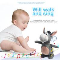 Voice Recording Talking Donkey Plush Toy Interactive Donkey Toy Walk Funny Gift