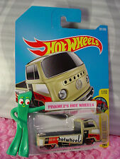 VOLKSWAGEN T2 PICKUP #201✰tan VW Bus;red mc5✰Art Car✰2017 i Hot Wheels Case J