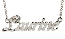 18K White Gold Plated Necklace With Name LAURINE - Girlfriend Custom Birthday