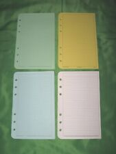 Compact 50 Pages Rainbow Color Lined Note Sheets Franklin Covey Planner Refill D