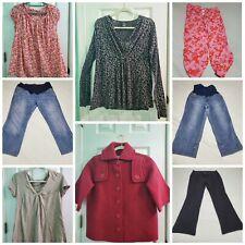 Maternity Clothes Lot Of 8 - Tops Jeans PJs Sweatpants & Jacket ~ Women's Medium