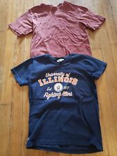 B0308 Lot 2 Piece Boys Pull Over Cotton Tee Shirts Size S Combine Ship