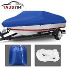 Heavy Duty Boat Cover Fits Fish Bass V-hull Boats 210D 20-22ft Rain UV Shelter