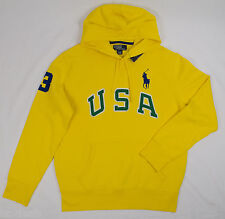 Polo Ralph Lauren Large Big Pony Logo USA Shirt Hoodie Jacket  MSRP$145 AS106