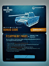 World of Tanks Bonuscode Pz.Kpfw. B2 740 (f) WoT Console Wargaming Code