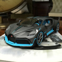 New 1/18 Bburago Bugatti Divo diecast open and close car model Matt grey blue