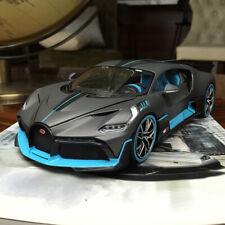 New 1/18 Bburago Bugatti Divo diecast open and close car model Matt grey blue