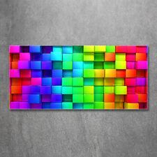 Glas-Bild Wandbilder Druck auf Glas 120x60 Deko Kunst Bunte Boxen