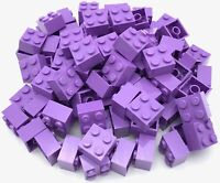 LEGO LOT OF 50 NEW 1 X 2 X 5 LAVENDER PURPLE PILLARS BUILDING BLOCKS