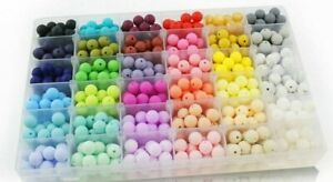 50PC Silicone Beads 12mm Teething Necklace Food Grade DIY Jewelry Baby Teether