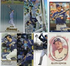 7-ryan braun brewers lot +2017 topps chrome refactor 26 tsc gold 47 more