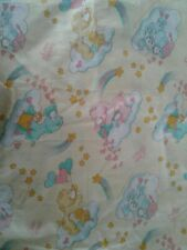 Vintage Care Bears American Greetings 1983 Fitted Crib Sheet Yellow Flaws Crafts