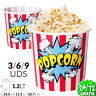 Set De Pop-Corn De Maïs 1.2 Lt Machine Pro Capacité Popcorn Pochoclos