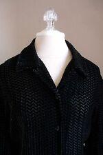 Jones New York Black Chenille Velvet Shirt Blouse Top 16 Macy's