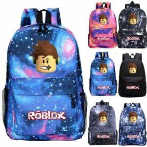 Roblox Backpack Kids School Bag Students Boys Bookbag Handbags Travelbag UK New