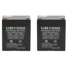 UPG 2 Pack - BATTERY REPL. RITAR RT SERIES RT-1250 F1 12V 5AH EACH