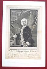 Eau forte originale, Portrait de Baverus Bernigeroth d'après Liscewsky, XVIIIe