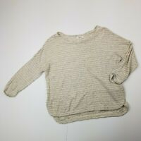 Madewell Womens 3/4 Sleeve Striped Blouse Size XS Extra Small Hemp Cotton Blend