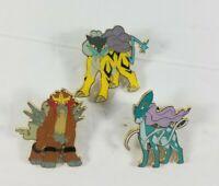 Pokemon Legendary Beasts Pin Collection Suicune Entei & Raikou 3 Pin Set JOHTO