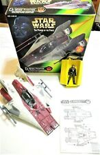 Vintage A-Wing Fighter 1997 Star Wars POTF Power of the Force w Pilot Nice!