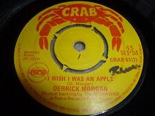 """DERRICK MORGAN-I Wish I Was An Apple VINYL 7"""" REGGAE CRAB"""