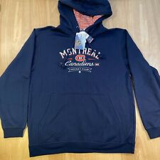 Men's Montreal Canadiens Hockey Club Peyton Pullover Hooded Navy Sweatshirt NHL