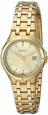 Pulsar By Seiko Champagne Dial Gold Tone Date Women's Dress Watch PXT830 SD