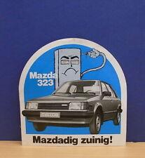1x Sticker - aufkleber Mazda 323 with org.back 80's (0648)