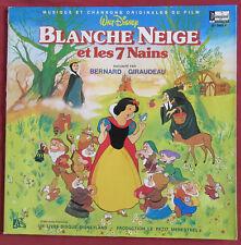 BLANCHE NEIGE ET LES 7 NAINS  LP ORIG FR  DISNEY LIVRE DISQUE