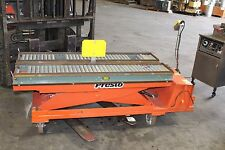 "PRESTO ELECTRIC PNEUMATIC SCISSOR TABLE LIFT  2000 POUND  CAPACITY 60"" X 27"""