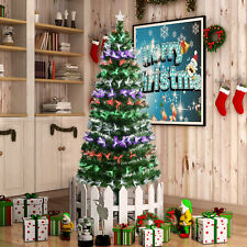 6FT Fiber Optic Artificial Christmas Tree with Stand Colorful LED Lamp Decorated