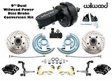 "1964-1972 GM A, F X Body Wilwood Disc Brake Kit 9"" Dual Black Out Master & Valve"
