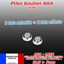 Lot x 2 piles bouton AG4 AG 4 LR66 SR66 LR626 SR626 626A CALCULATRICE - MONTRE