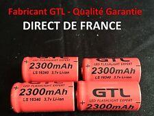 4 Piles Accus Rechargeables CR123A 16340 3.7V 2300Mah GTL Li-ion Batteries - HOT