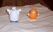 MCDONALDS HALLOWEEN 1995 GRIMACE GHOST AND BIRDIE PUMPKIN  REMOVABLE COSTUMES