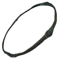 Authentic Antique African Slave Trade - 1600-1850 - Metal Bracelet Money Manilla