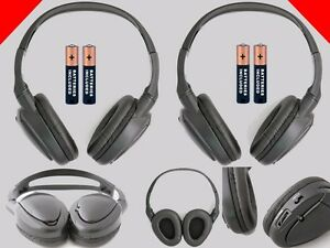2 Wireless DVD Headphones for Nissan Vehicles : New Headsets