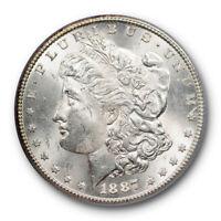 1887 S $1 Morgan Dollar PCGS MS 63 Uncirculated Blast White Cert#0036